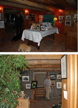 A view of the studio / gallery